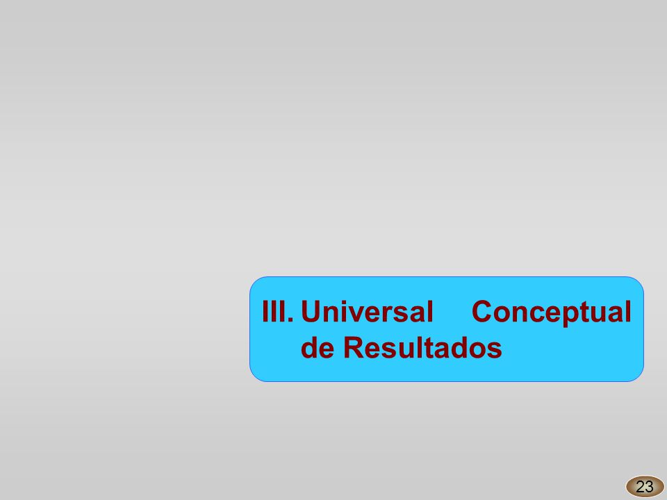 III.Universal Conceptual de Resultados 23