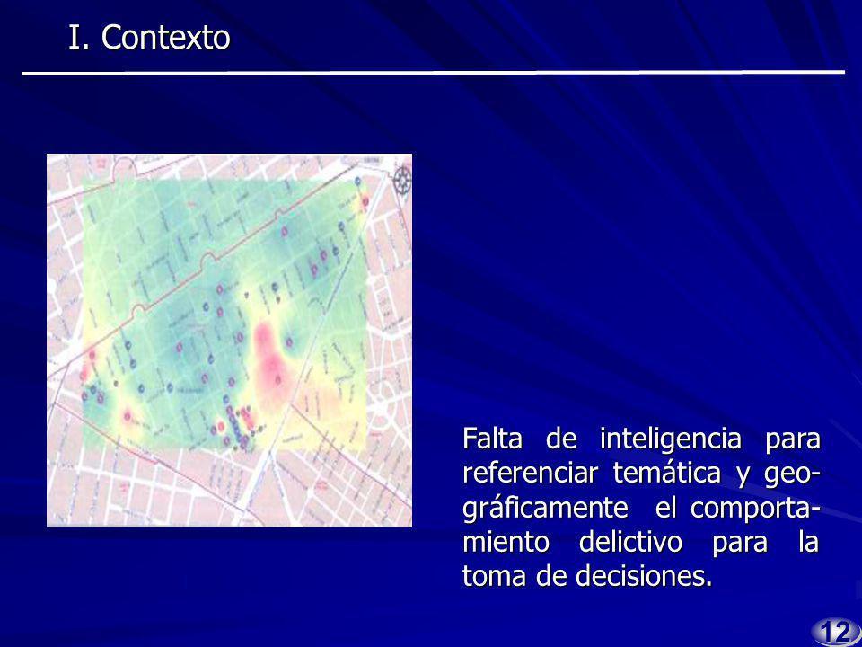 1111 Diversificación en la opera- ción de las organizaciones delictivas. I. Contexto I. Contexto