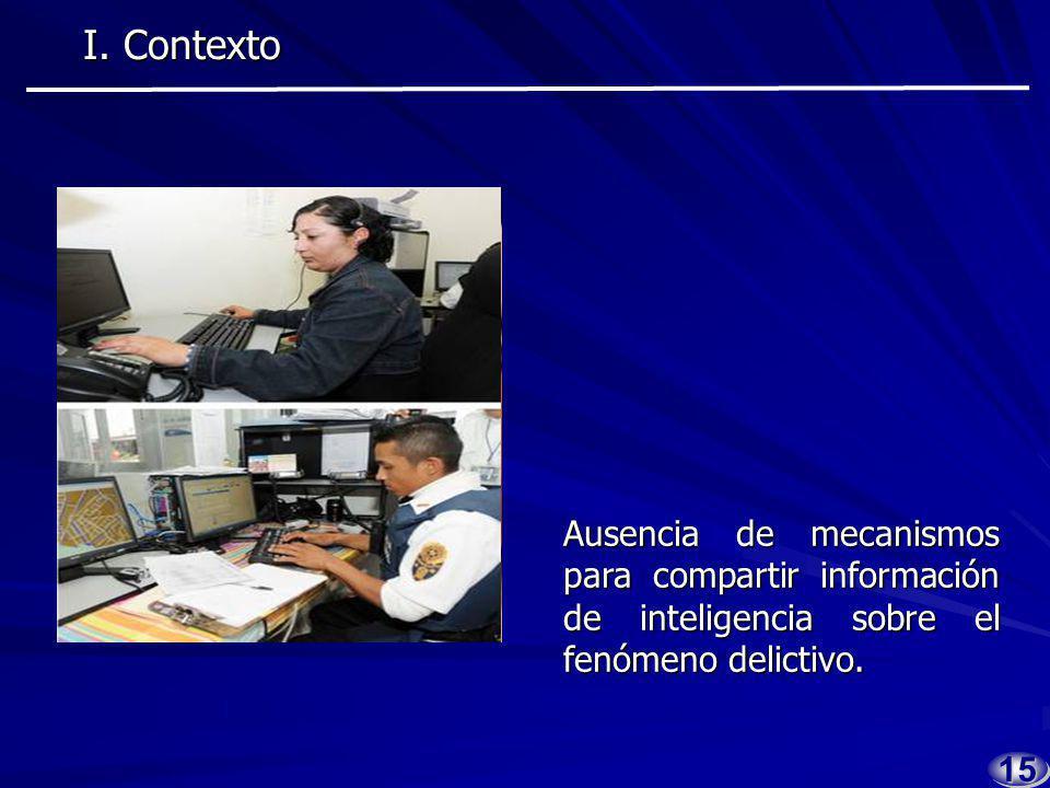 1414 Carencia de información po- licial en las diversas corpora- ciones de seguridad pública.