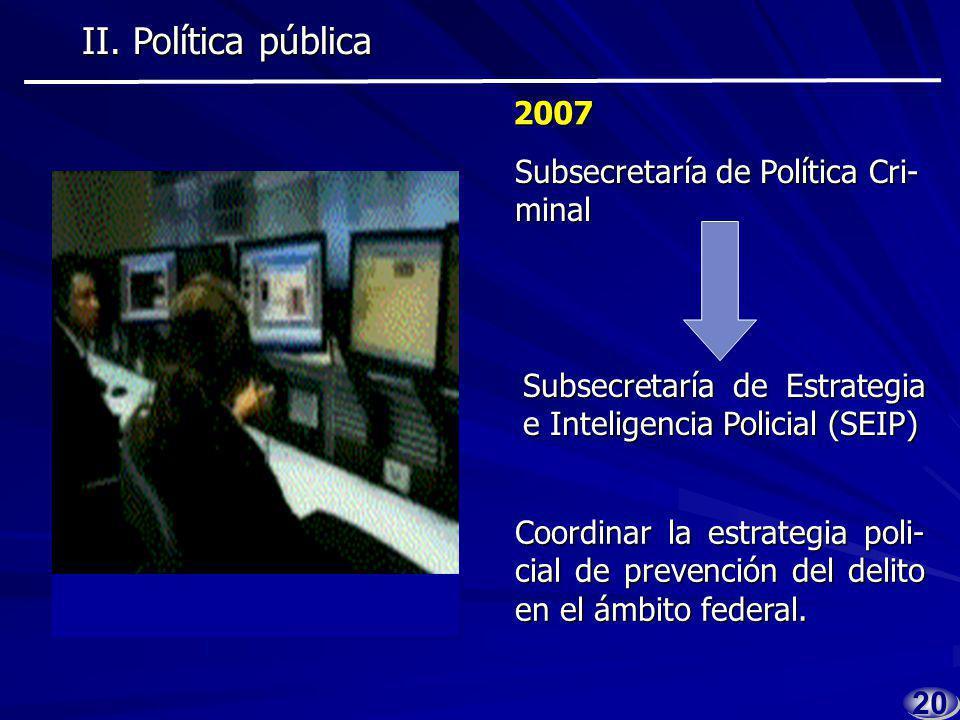 1919 2006 2006 En el marco de la CONAGO se acordó redefinir las tareas de los órganos de inteligencia para combatir de forma es- tratégica a la delincuencia.