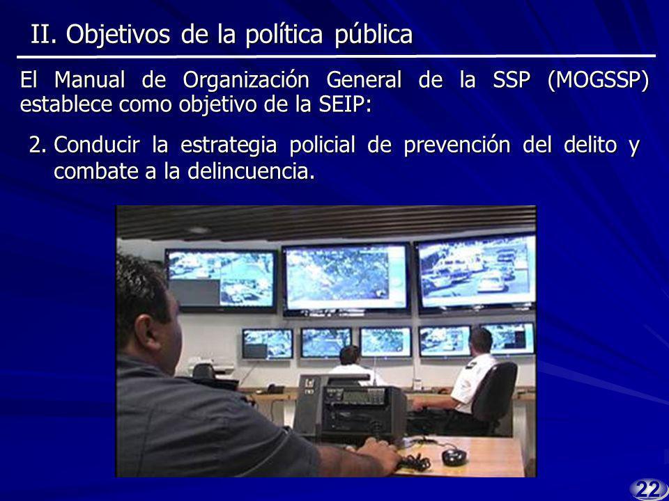 II.Objetivos de la política pública II.