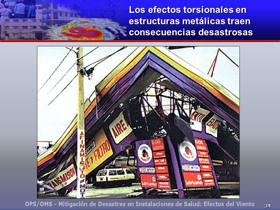 34 Los efectos torsionales en estructuras metálicas traen consecuencias desastrosas