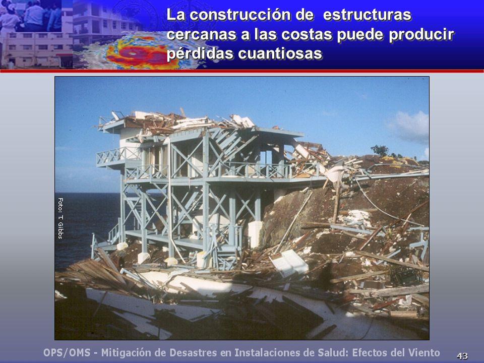 43 La construcción de estructuras cercanas a las costas puede producir pérdidas cuantiosas