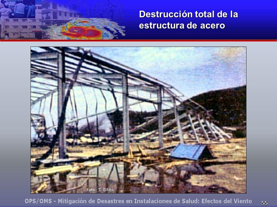 55 Destrucción total de la estructura de acero