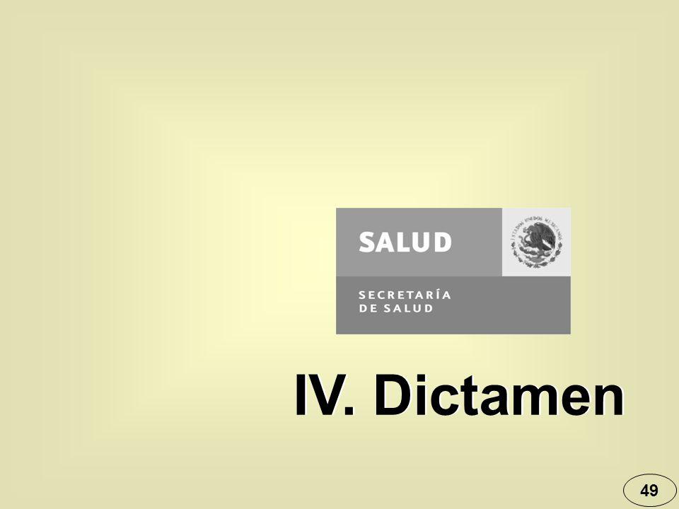 49 IV. Dictamen