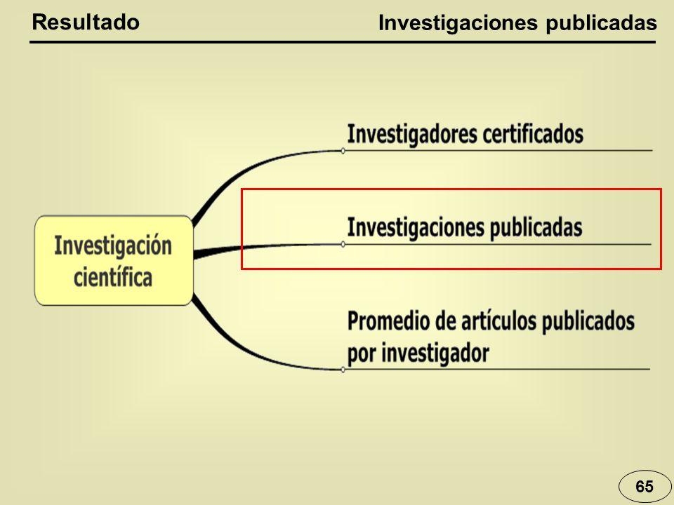 65 Resultado Investigaciones publicadas