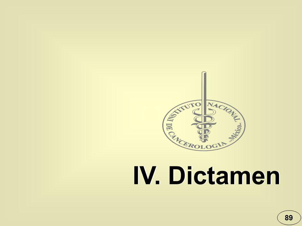 89 IV. Dictamen