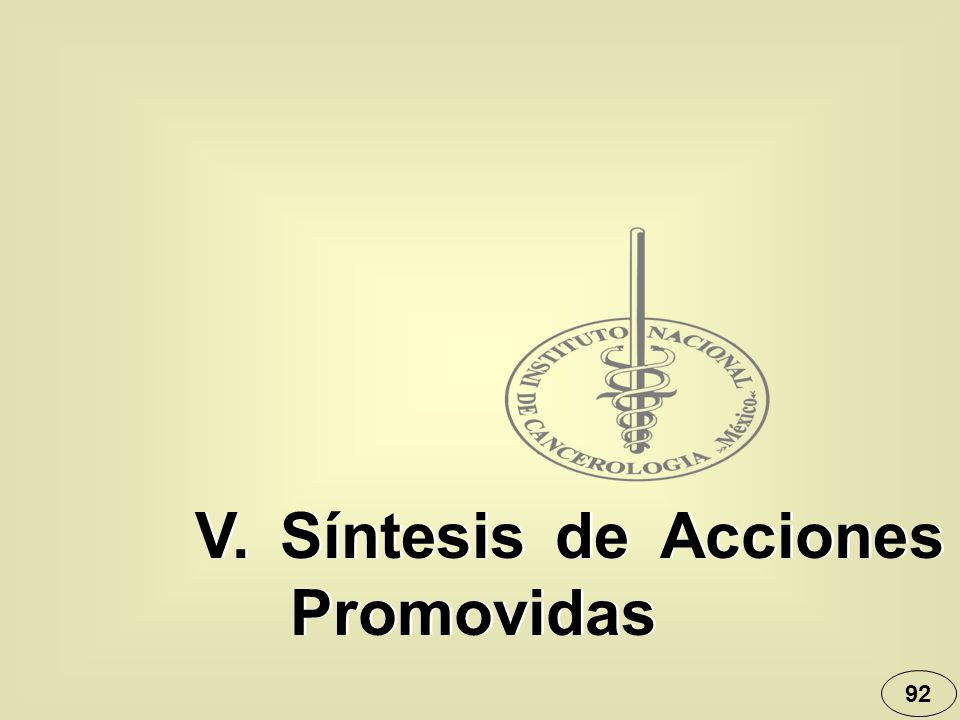 92 V. Síntesis de Acciones Promovidas