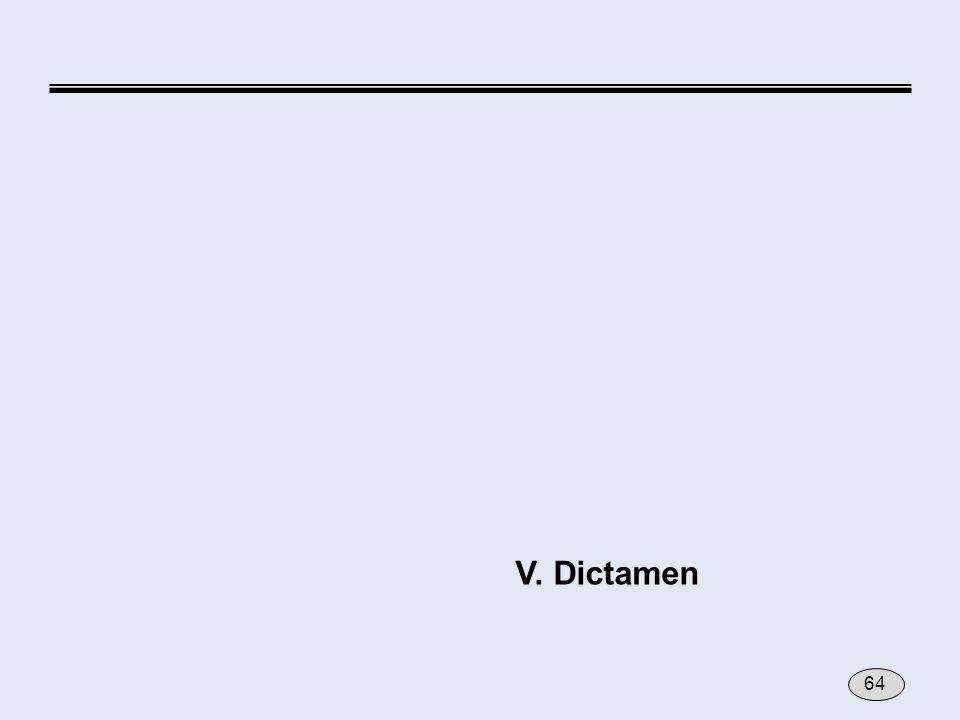V. Dictamen 64