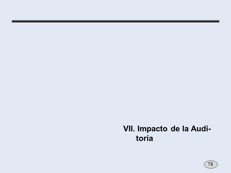 VII. Impacto de la Audi- toría 76