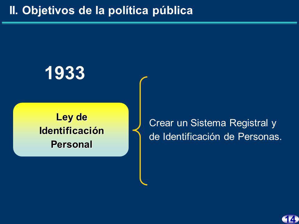 13 II. Objetivos de la política pública