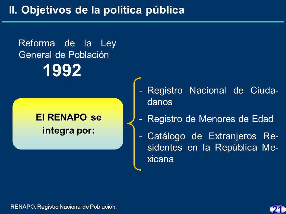 20 Reforma al artículo 36 Constitucional 1989 -Organizar el Registro Nacional Ciudadano, y -Expedir la Cédula de Identidad Ciudadana.* II.