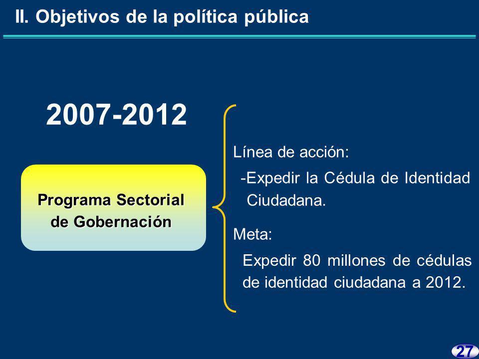26 Programa Sectorial de Gobernación II.
