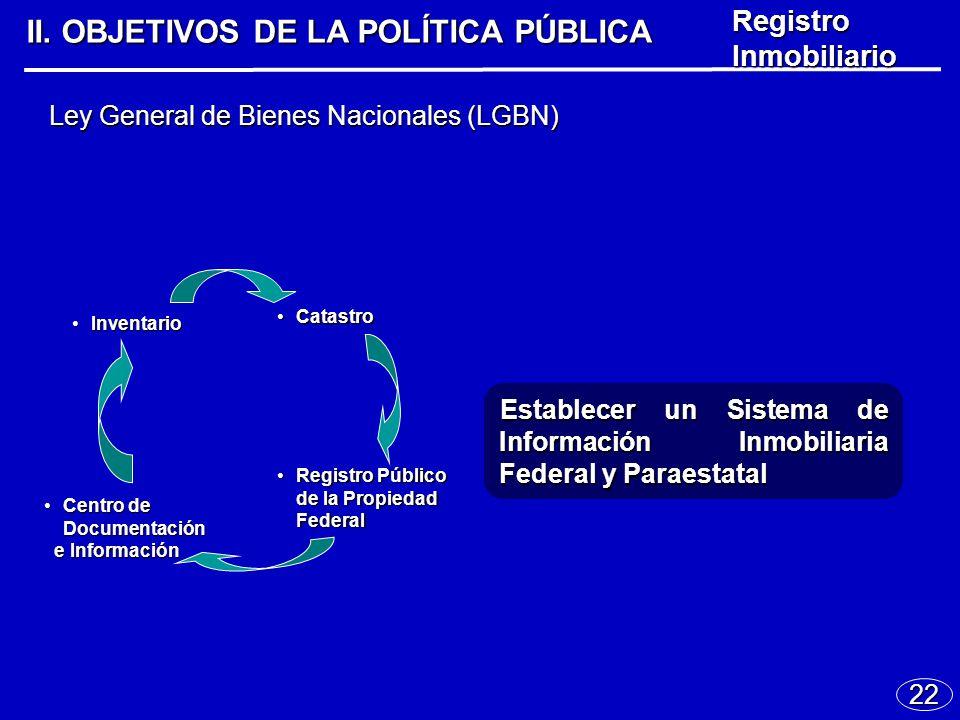 22 Ley General de Bienes Nacionales (LGBN) II.