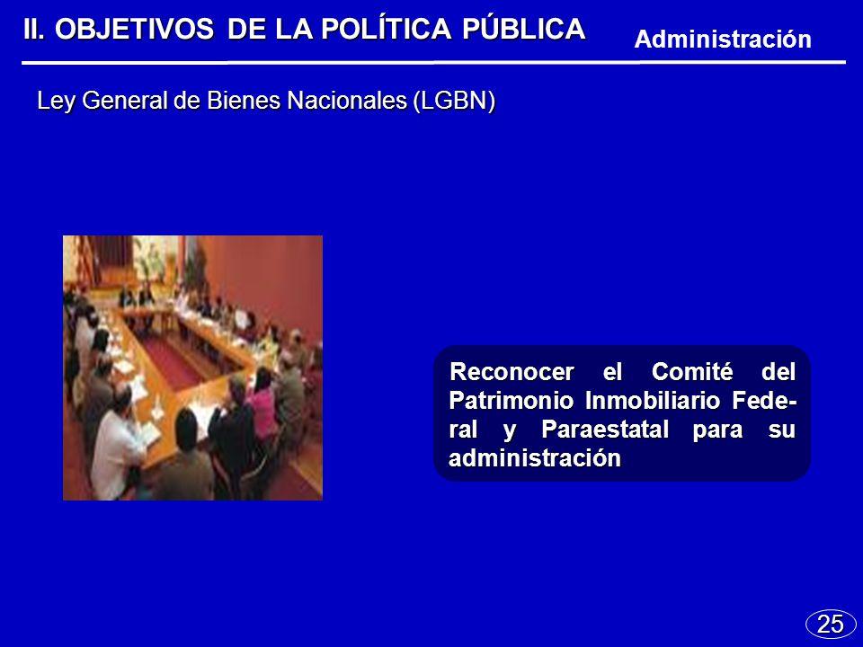 25 Ley General de Bienes Nacionales (LGBN) II.