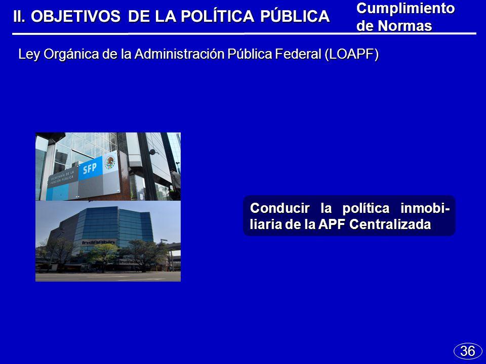 36 Ley Orgánica de la Administración Pública Federal (LOAPF) II.