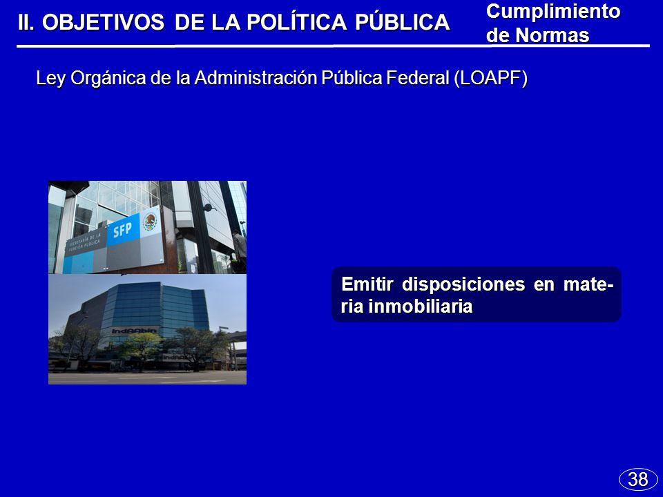 38 Ley Orgánica de la Administración Pública Federal (LOAPF) II.