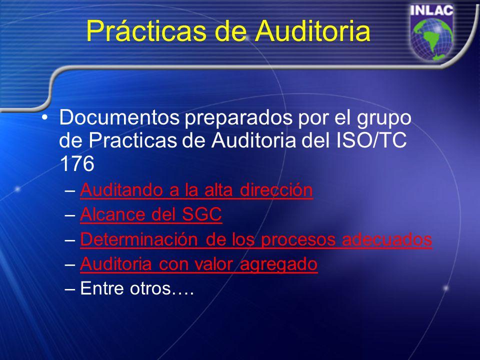 Prácticas de Auditoria Documentos preparados por el grupo de Practicas de Auditoria del ISO/TC 176 –Auditando a la alta direcciónAuditando a la alta d