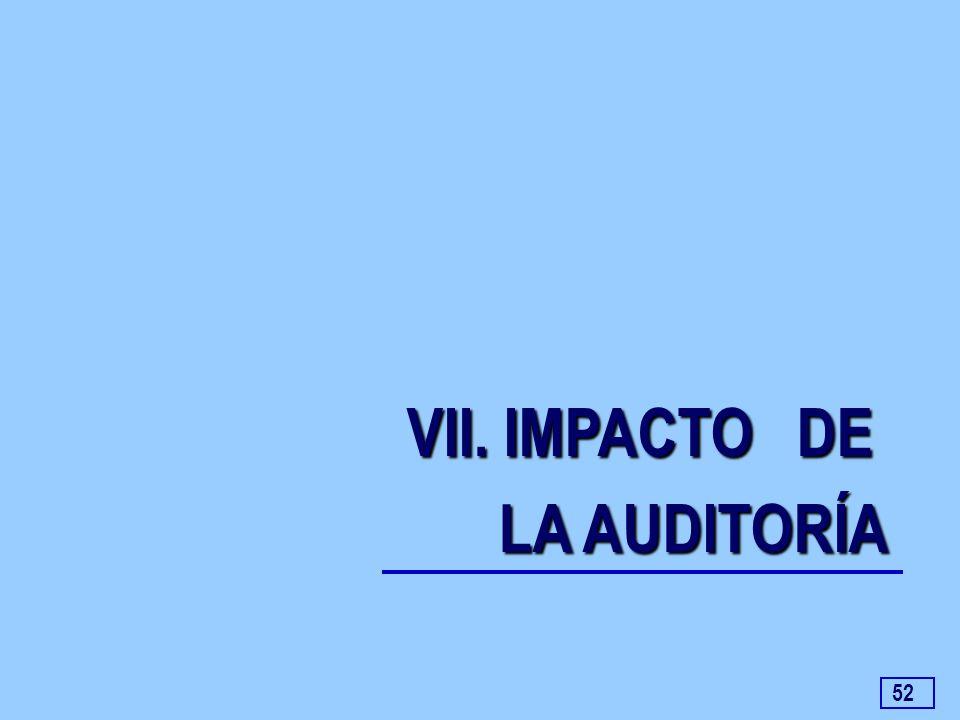 52 VII. IMPACTO DE LA AUDITORÍA LA AUDITORÍA