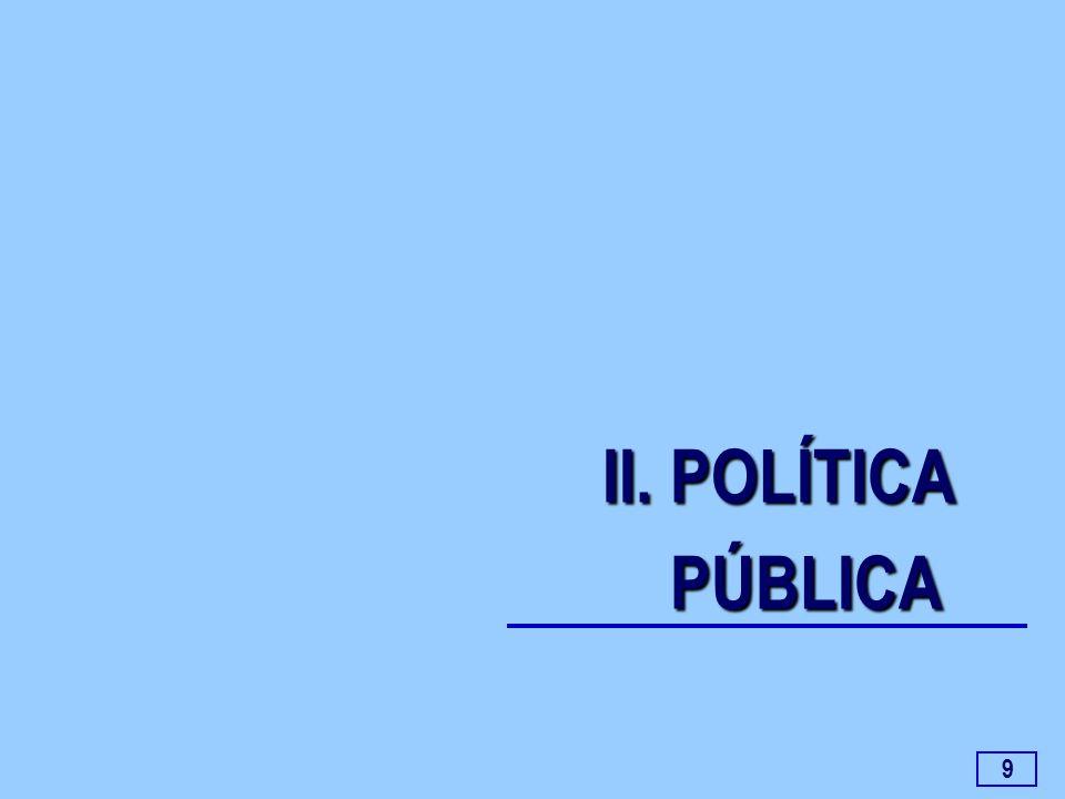9 II. POLÍTICA PÚBLICA PÚBLICA