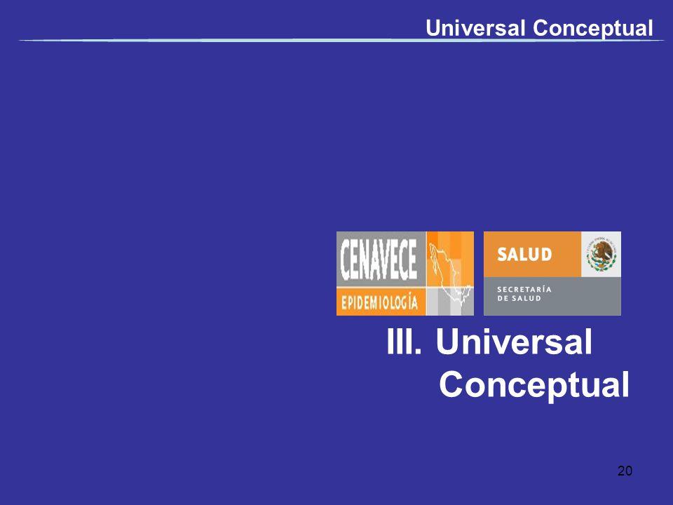III. Universal Conceptual Universal Conceptual 20