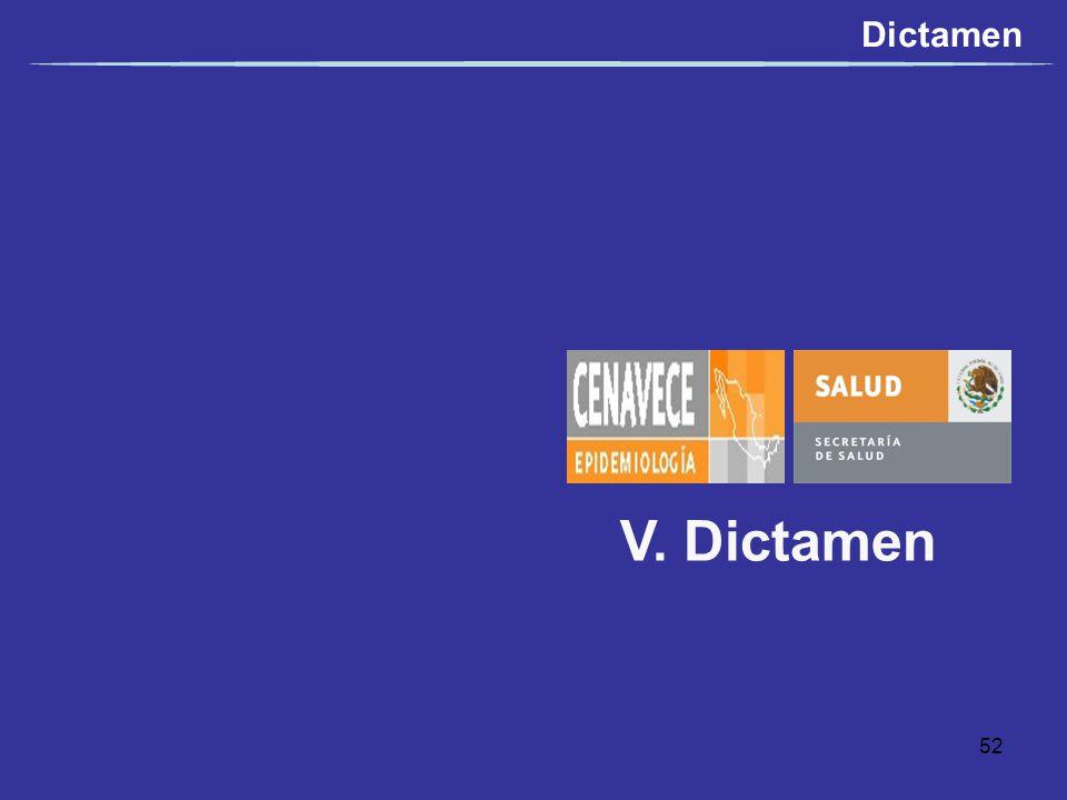 V. Dictamen Dictamen 52