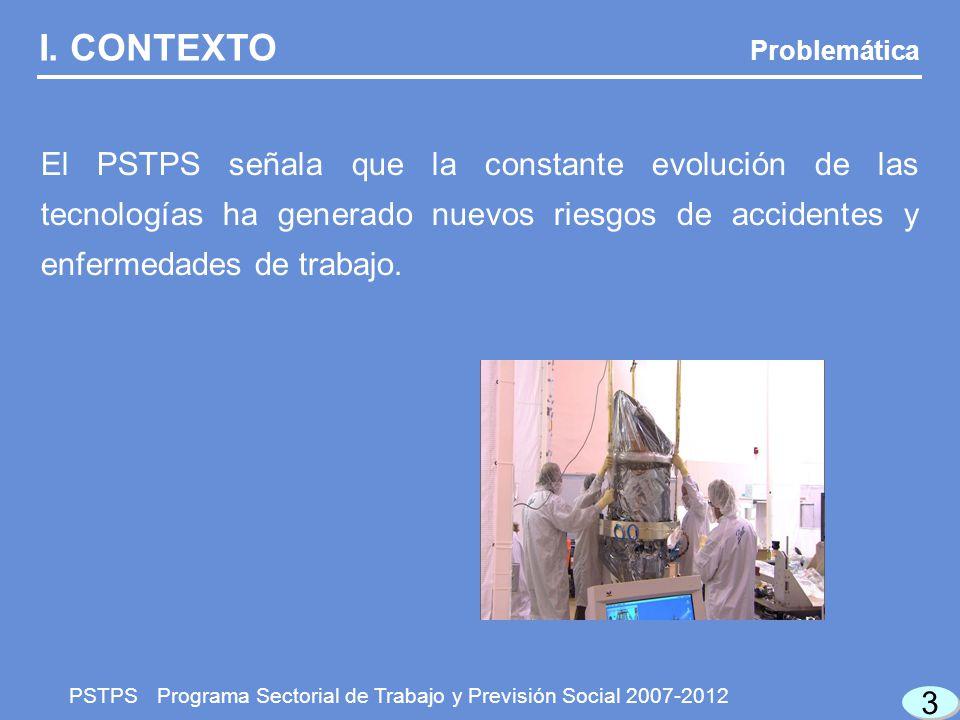 3 3 Problemática PSTPS Programa Sectorial de Trabajo y Previsión Social 2007-2012 I.