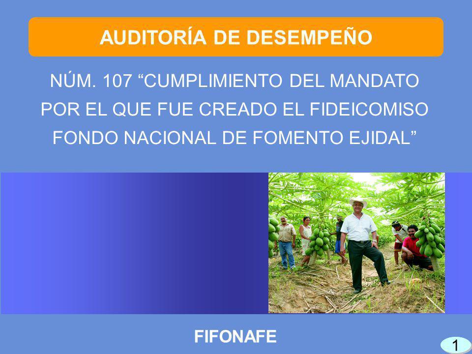 42 FIN DE LA PRESENTACIÓN Auditoría practicada por personal de la Dirección General de Auditoría de Desempeño al Desarrollo Económico de la Auditoría Especial de Desempeño
