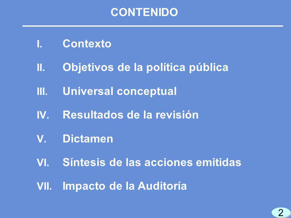 2 2 2 2 I. Contexto II. Objetivos de la política pública III.