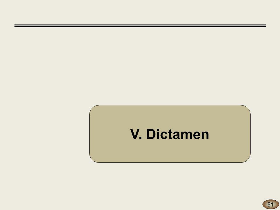 V. Dictamen 51