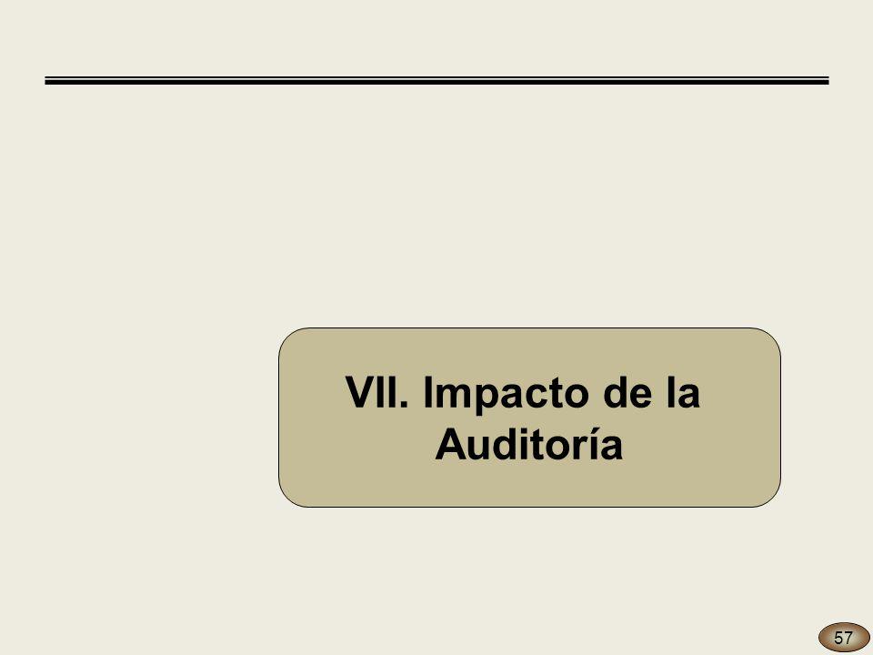 VII. Impacto de la Auditoría 57