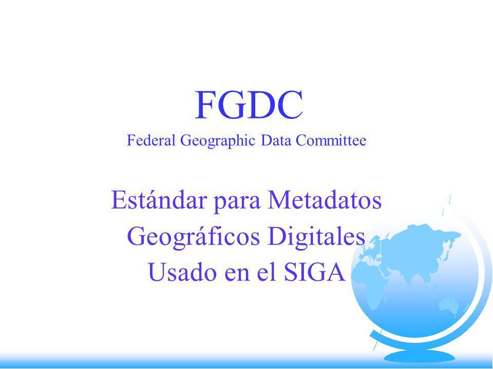 Desarrollo del Estándar Verano de 1992 - El FGDC patrocina un foro sobre metadatos.
