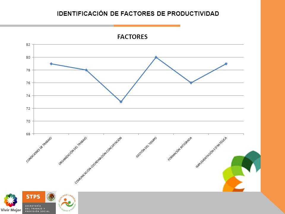 IDENTIFICACIÓN DE FACTORES DE PRODUCTIVIDAD