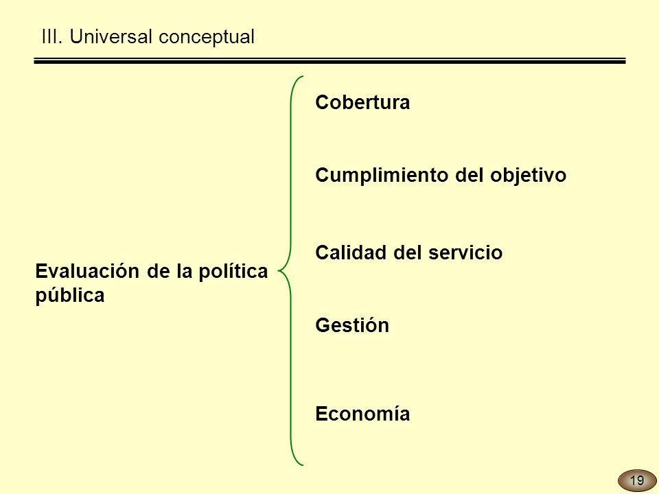 Evaluación de la política pública III.