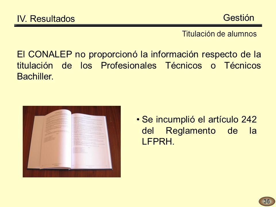 Se incumplió el artículo 242 del Reglamento de la LFPRH.