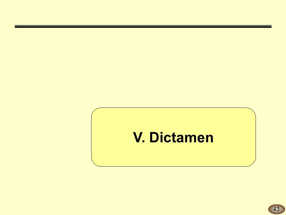 V. Dictamen 43