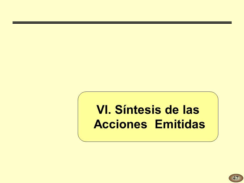 VI. Síntesis de las Acciones Emitidas 47