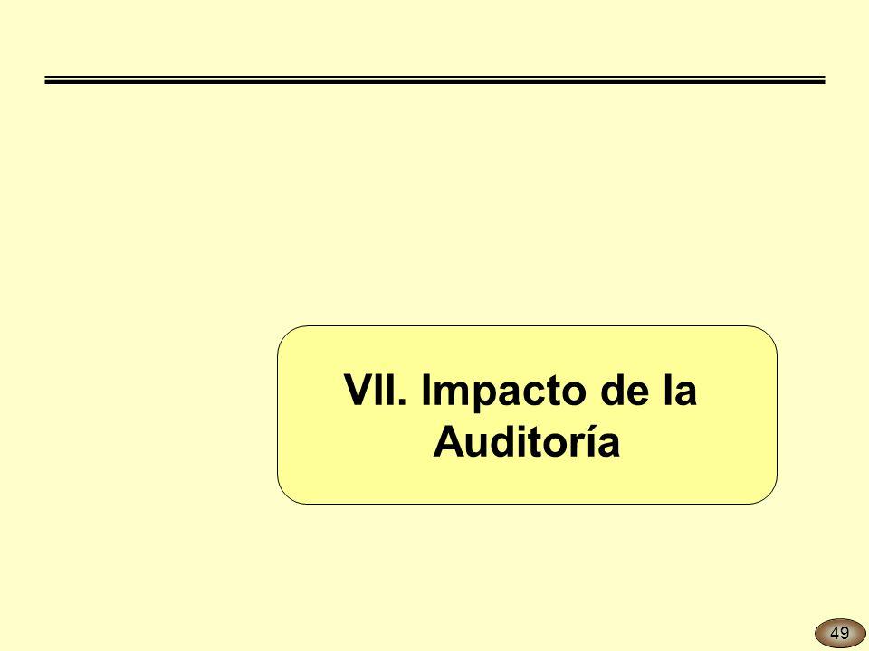 VII. Impacto de la Auditoría 49
