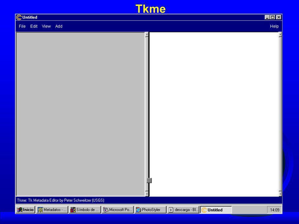 Estas herramientas son gratuitas y pueden correr bajo las plataformas de Windows 95 o Windows NT 4.0 MetaLite utiliza una base de datos (Metalite.mdb), donde se almacenan todos los metadatos creados con el paquete.