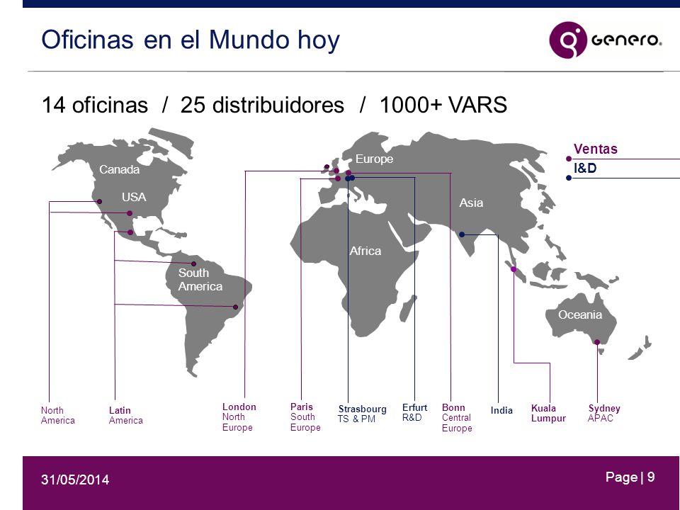 31/05/2014 Page | 10 Latinoamérica en números +20% crecimiento 3 años Empresa relevante en el mercado de herramientas de desarrollo en la región.