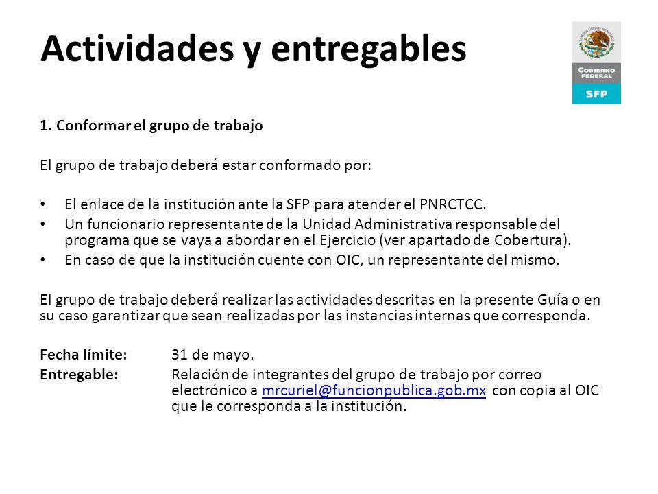Proceso de Rendición de Cuentas Actividades y entregables 1.
