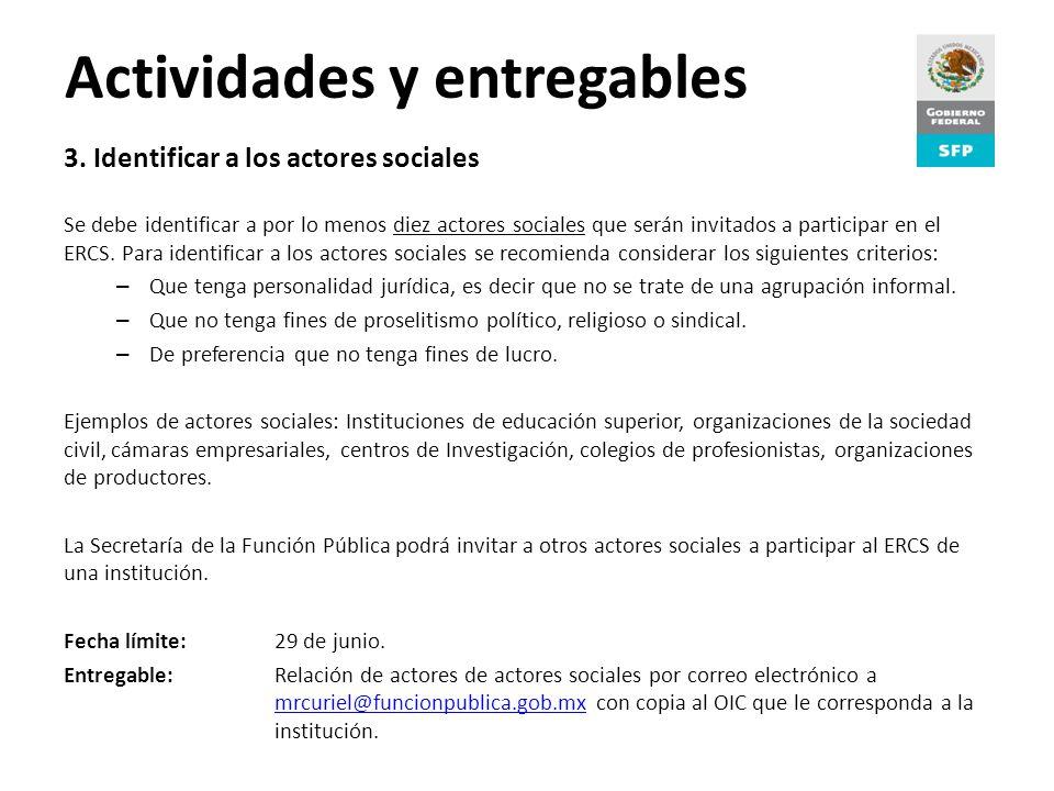 Proceso de Rendición de Cuentas Actividades y entregables 3.