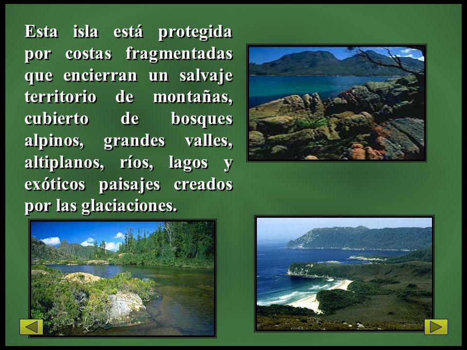 Esta isla está protegida por costas fragmentadas que encierran un salvaje territorio de montañas, cubierto de bosques alpinos, grandes valles, altipla