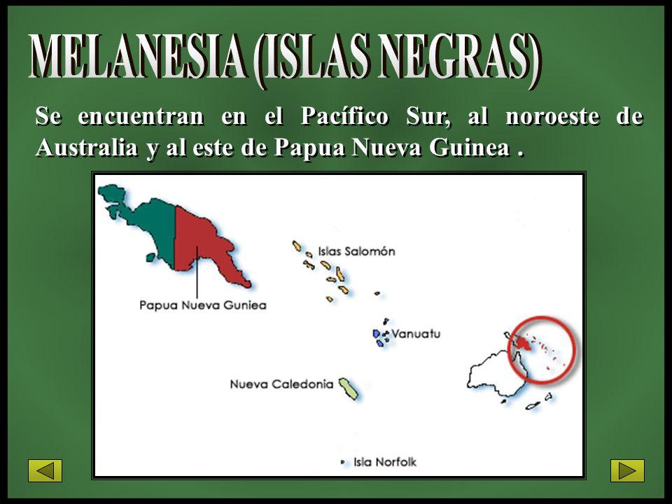 Se encuentran en el Pacífico Sur, al noroeste de Australia y al este de Papua Nueva Guinea.