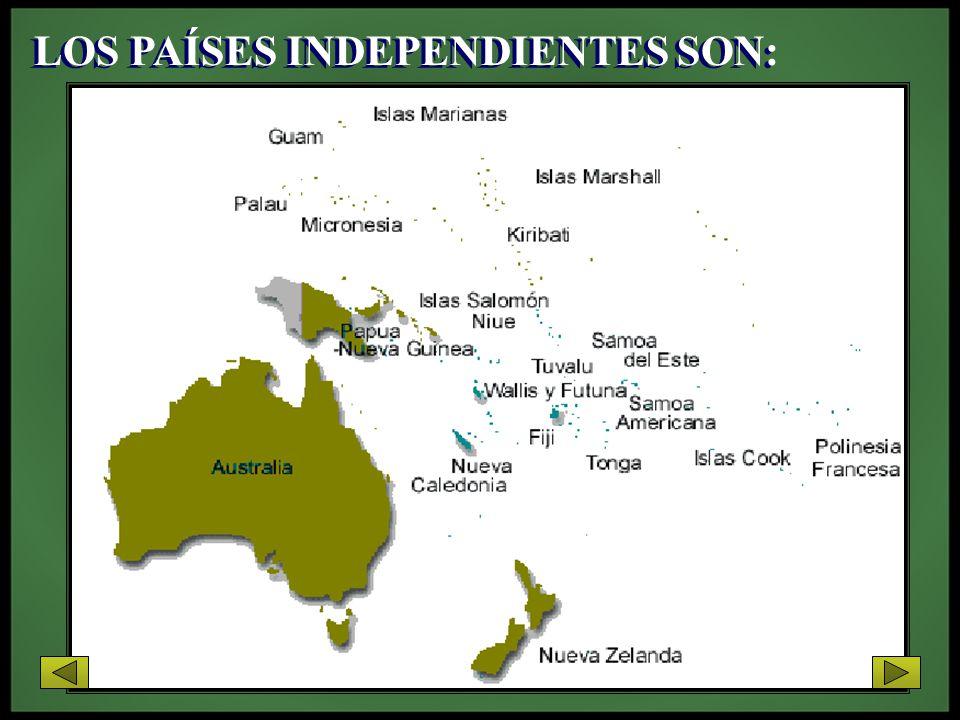 Estos están organizados en cuatro regiones tradicionales: Melanesia Polinesia Micronesia Australasia