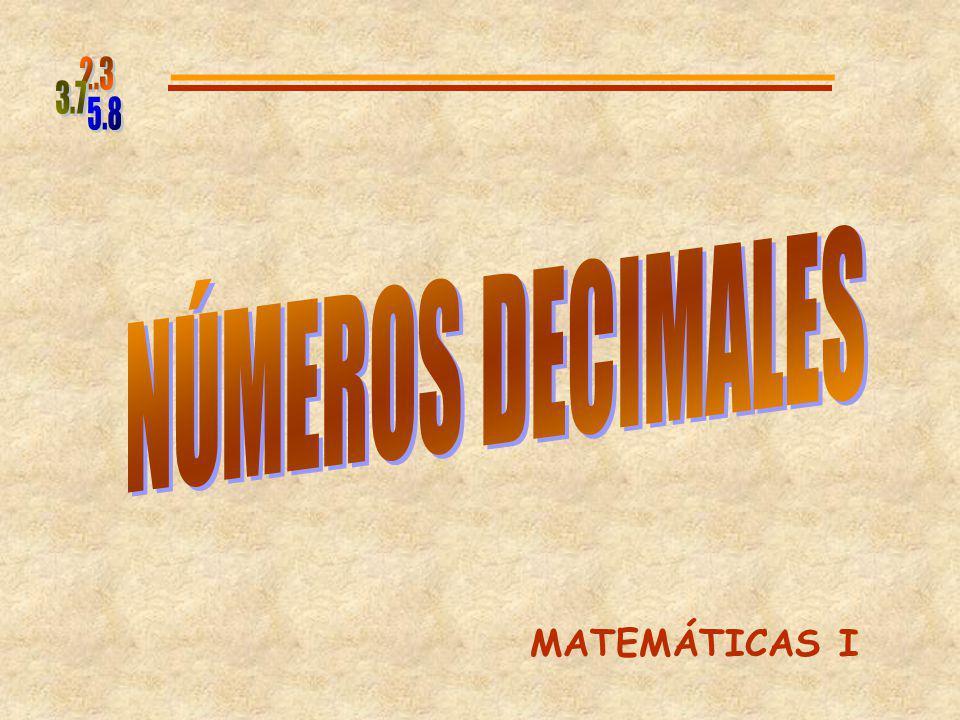 De la misma manera los números decimales se escriben como fracciones decimales: Ejemplo 18.24 = 0.098 = 18 + 24 100 98 1000 18 + 2 10 4 100 + = = 9 8 1000 +