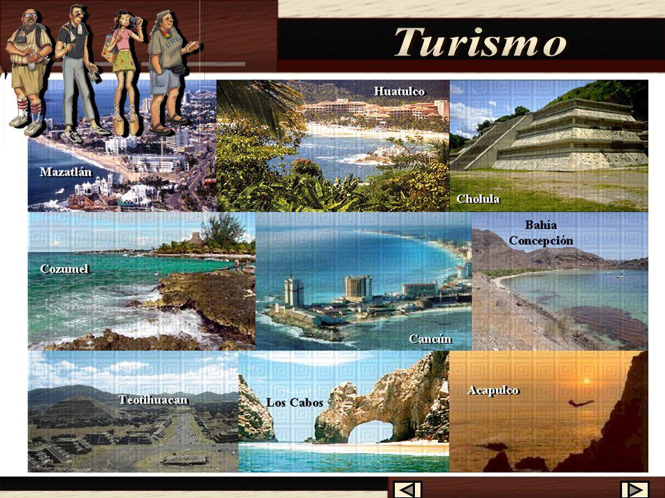 Los lugares más visitados por los turistas norteamericanos y canadienses son: 3°. - Acapulco, Puerto Vallarta, Mazatlán y Cozumel. 1°. - Bahía Concepc