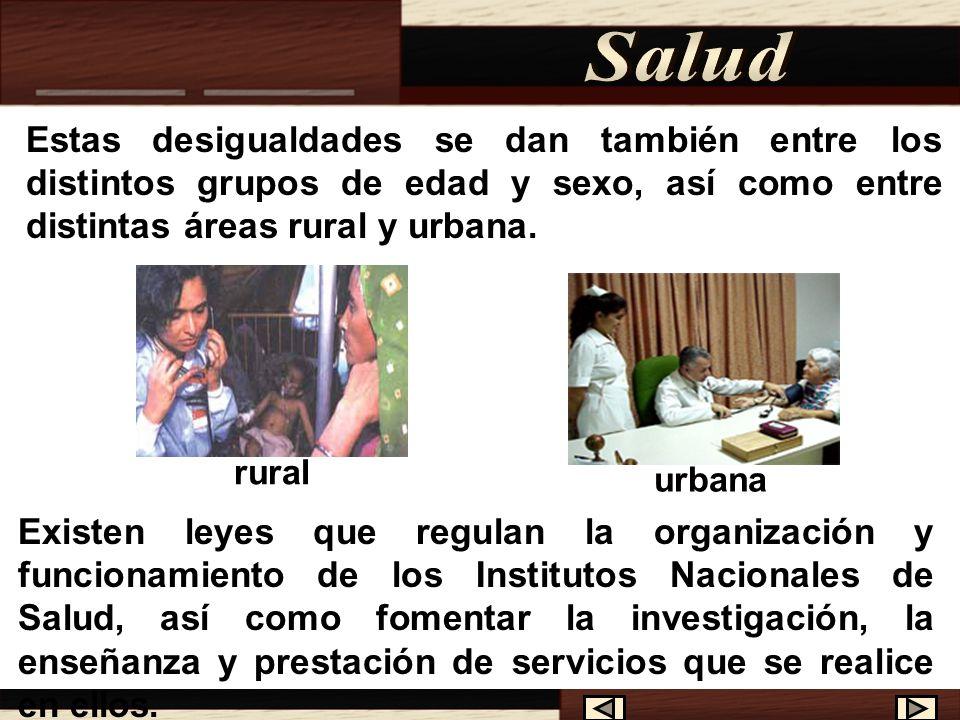 Además de la estructura y la distribución de la población, es necesario también analizar las diferencias de las condiciones de salud.