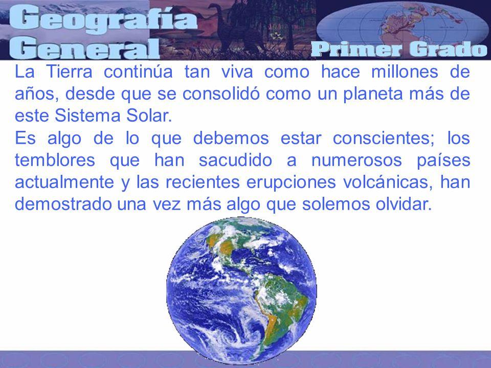 La Tierra continúa tan viva como hace millones de años, desde que se consolidó como un planeta más de este Sistema Solar.