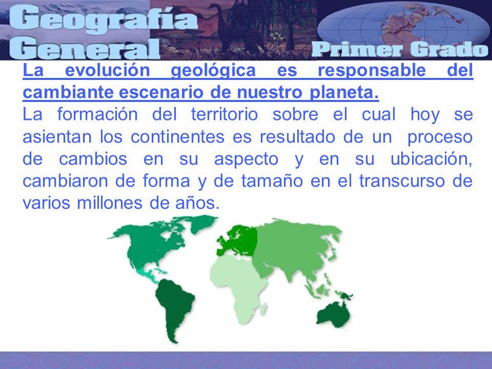 La evolución geológica es responsable del cambiante escenario de nuestro planeta.